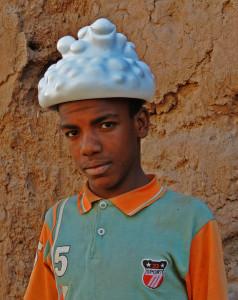 chapeau malienne mhamid portrait